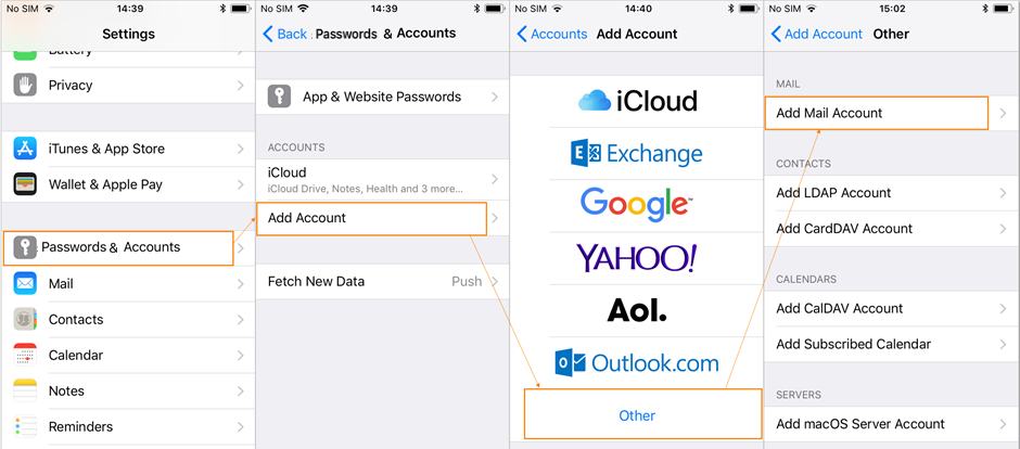 How To Configure iOS Devices To Connect To POP/IMAP Mailbox
