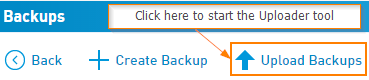 Upload Backups