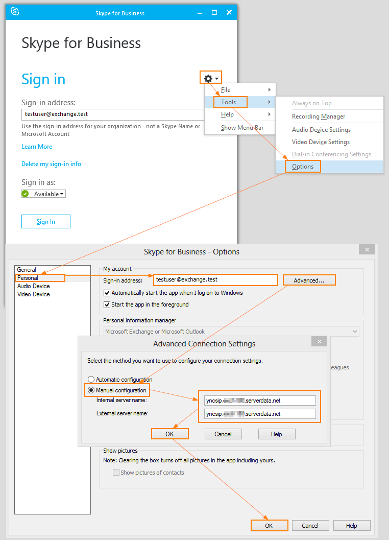 Configure Skype for Business