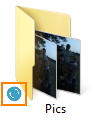 Folder is syncing
