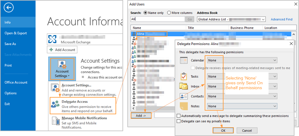 How To Enable And Use Send On Behalf Permissions In Outlook