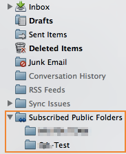 Subscribed Public Folders