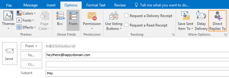 Direct Reply To Different Email Address (Reply-To Address) In Outlook For  Windows - Intermedia Knowledge Base