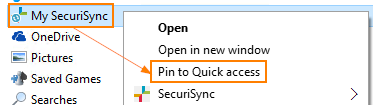 Pin to Quick Access