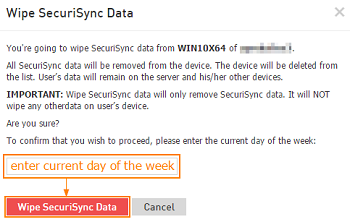 Wipe SecuriSync data