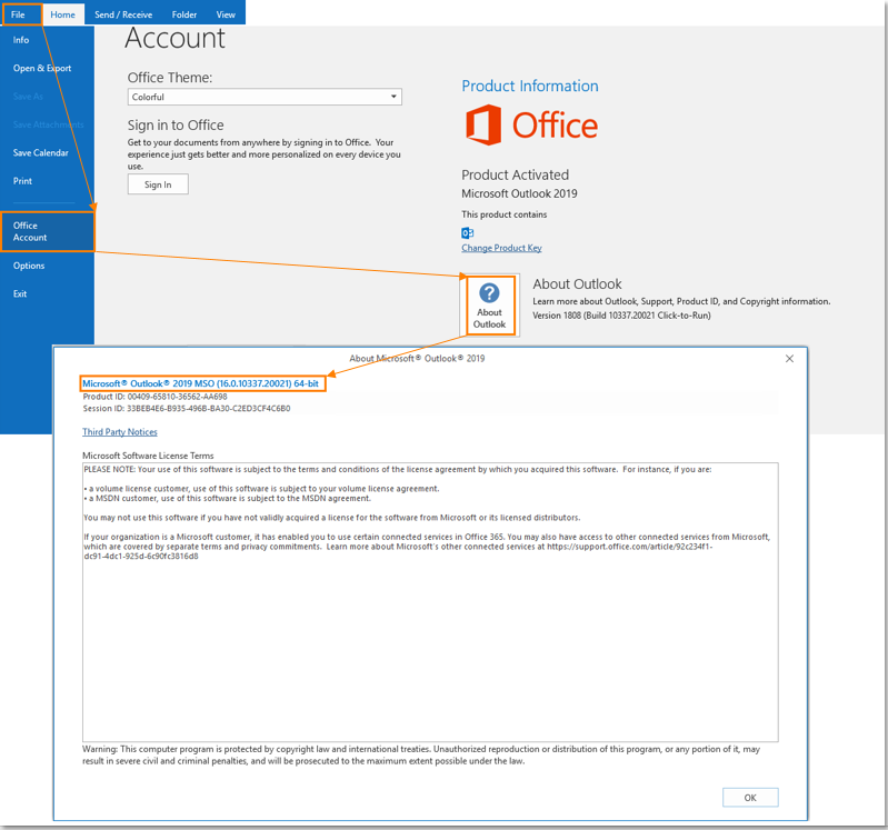 What Is The Version Of My Outlook Client Intermedia Knowledge Base