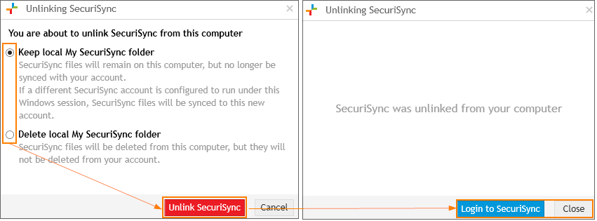 SecuriSync: Unlink Account2