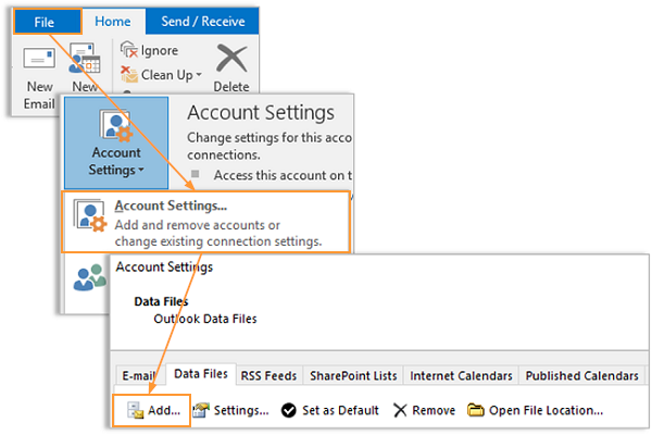 How To Open A PST File In Outlook - Intermedia Knowledge Base