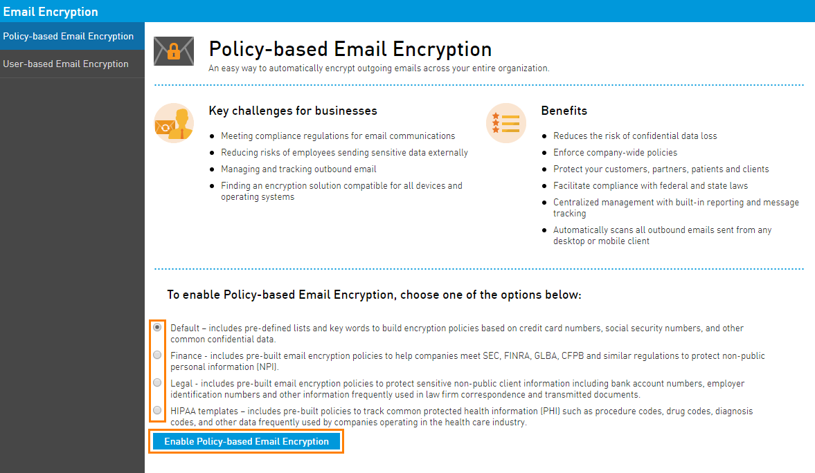 Getting Started With Policy Based Email Encryption Intermedia