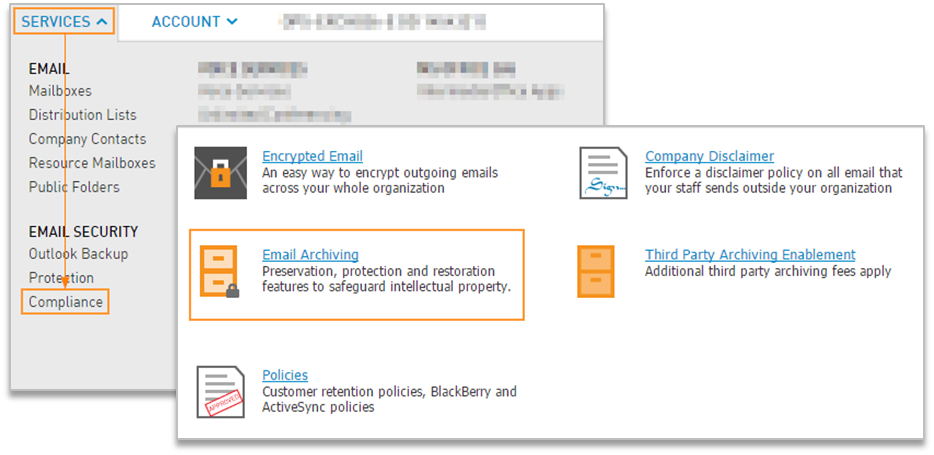 Install Email Archiving