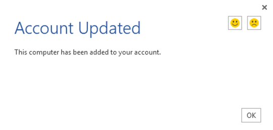Office 365 Account Updated