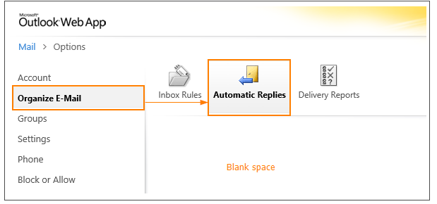 Out Of Office Page Is Blank In OWA - Intermedia Knowledge Base