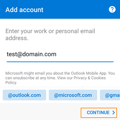 Outlook For Android Setup Instructions - Intermedia