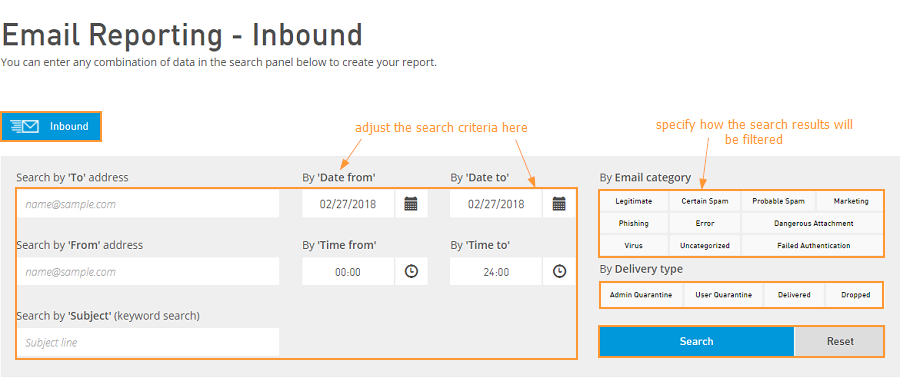 Inbound Email Reporting