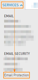Services > Email Protection
