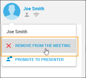 Remove from meeting