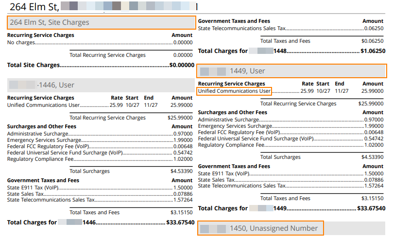 Subcharges and Other Fees