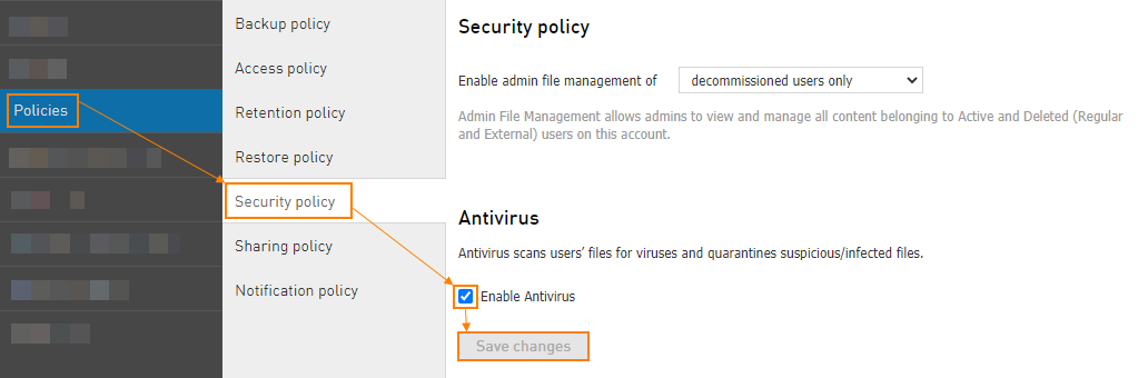 Enable Antivirus