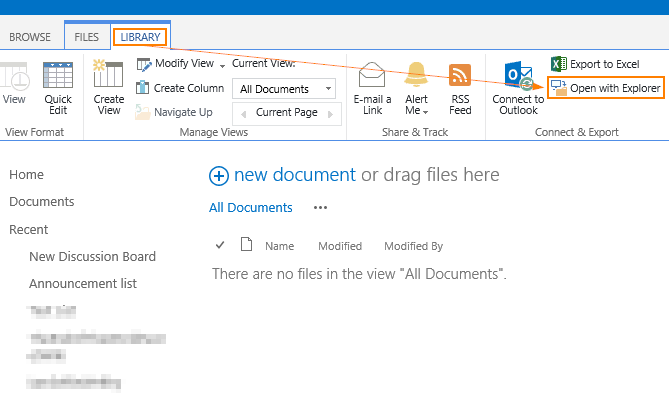 How Do I Open SharePoint 2013 Document Library In Windows