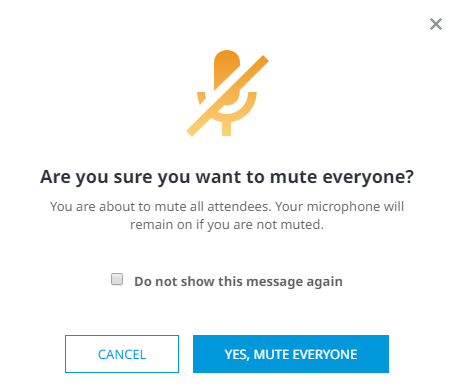 Mute all confirm