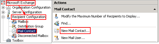 New Mail Contact