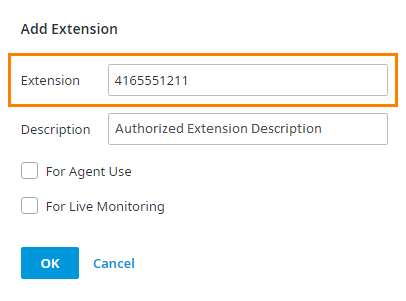Add Authorized Extensions