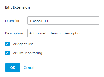Edit Authorized Extensions
