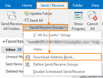 outlook 2013 oab download failed