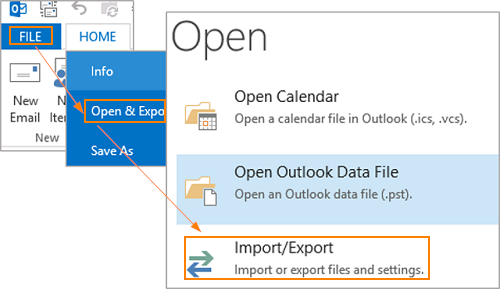 How To Export Data In Outlook - Intermedia Knowledge Base