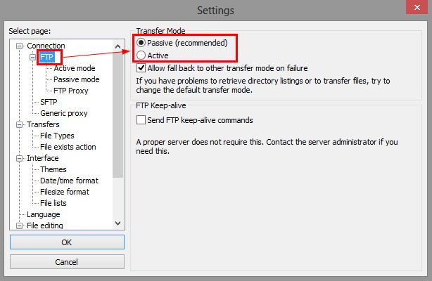 FTP Connection Issues  Active And Passive FTP Modes