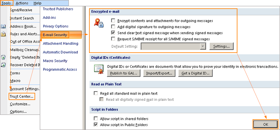 S/MIME For Exchange - Intermedia Knowledge Base