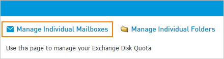Manage Individual Mailboxes