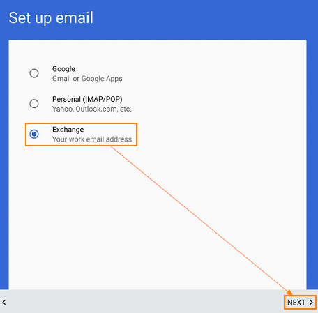 Add your Intermedia email to your Android Device