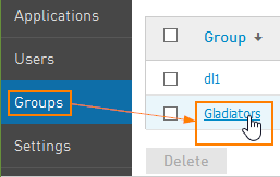 Group Dashboard settings