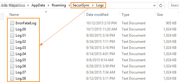SecuriSync logs