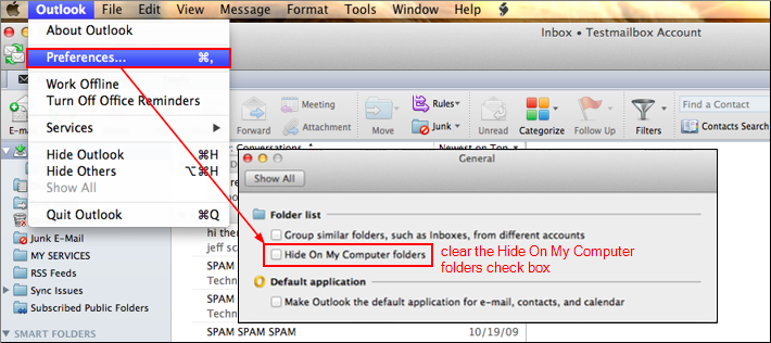 Outlook 2011 > Preferences