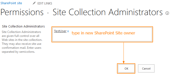 How Do I Change The Owner Of My Hosted SharePoint Site