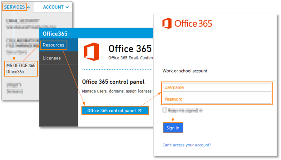 Control Panel Office 365