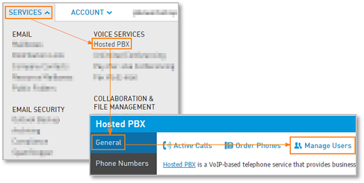 Manage Hosted PBX users