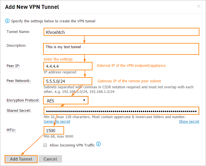 How To Create And Manage VPN Tunnels - Intermedia Knowledge Base