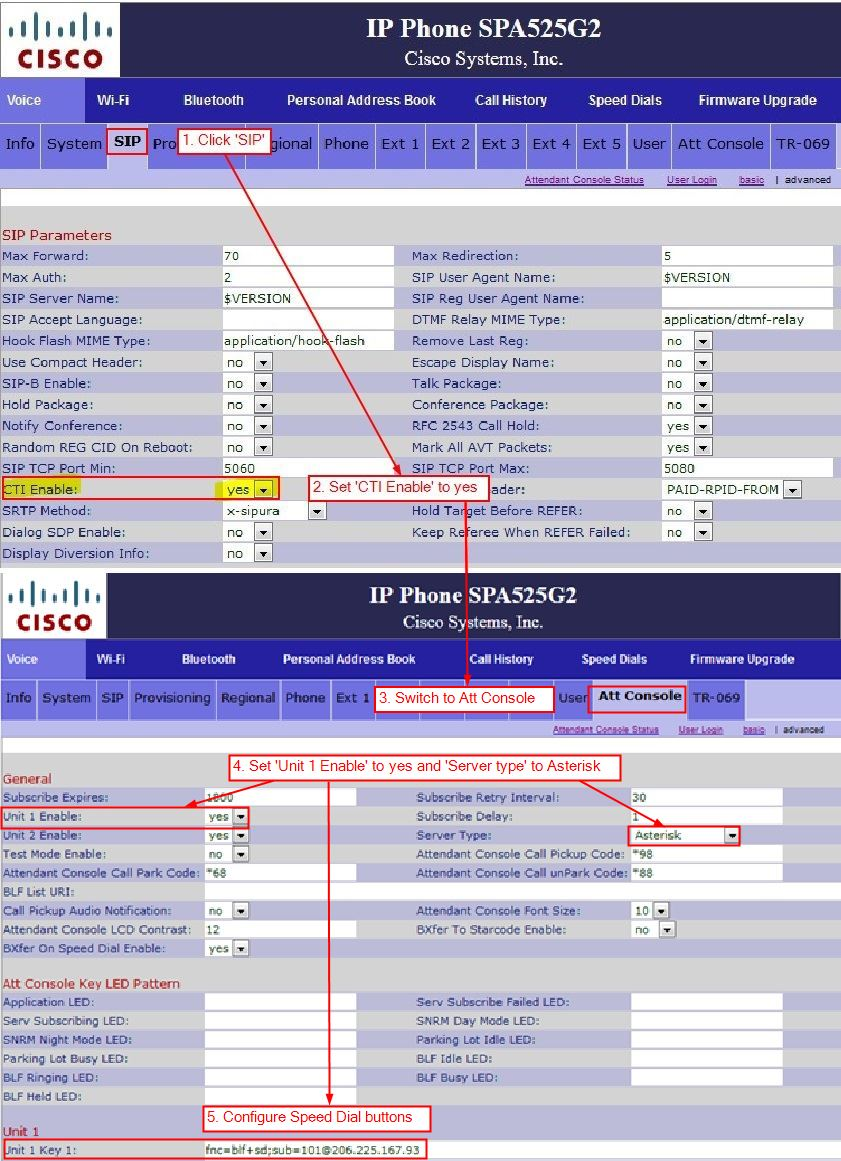 Configuring Cisco Side Car Attendant Console For Hosted PBX