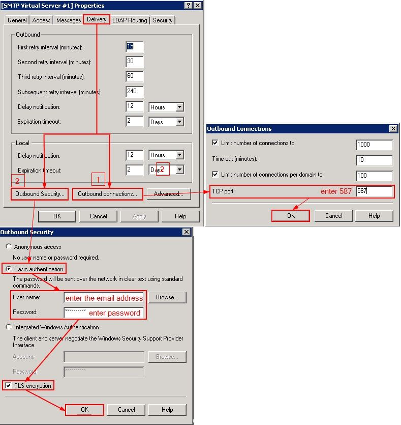 How To Configure IIS To Send Mail Using An Exchange Account