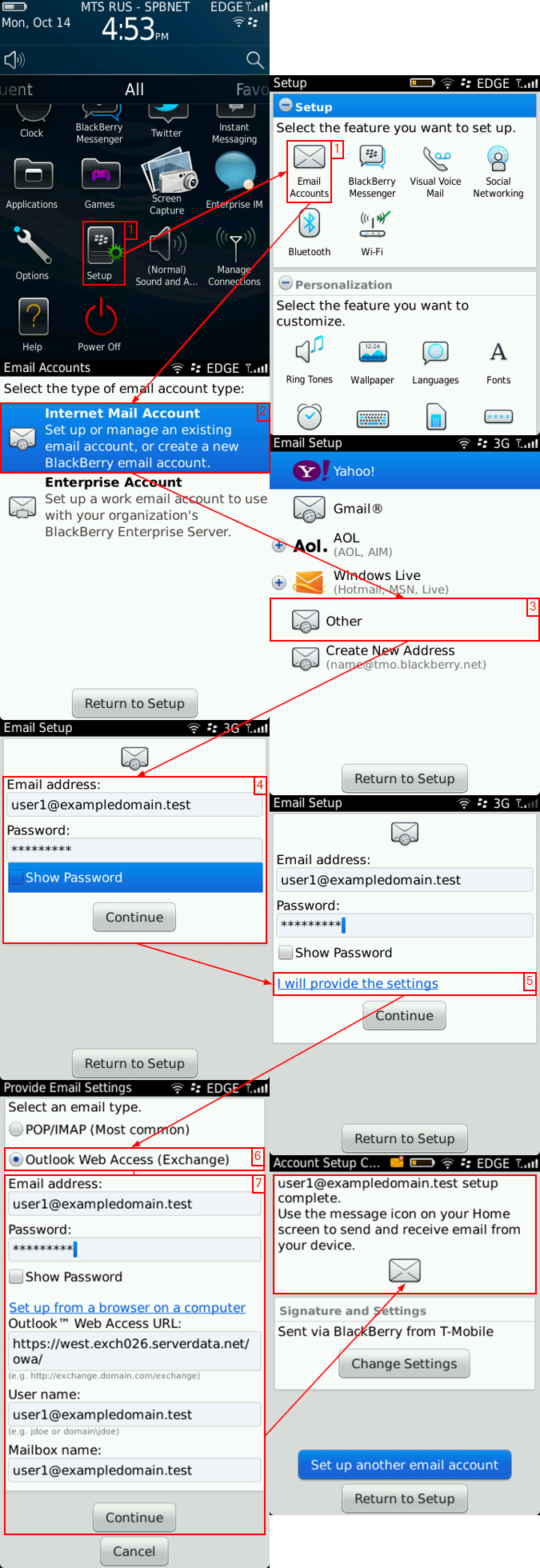 Integrate BIS Via IMAP