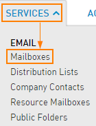 Services > Mailboxes