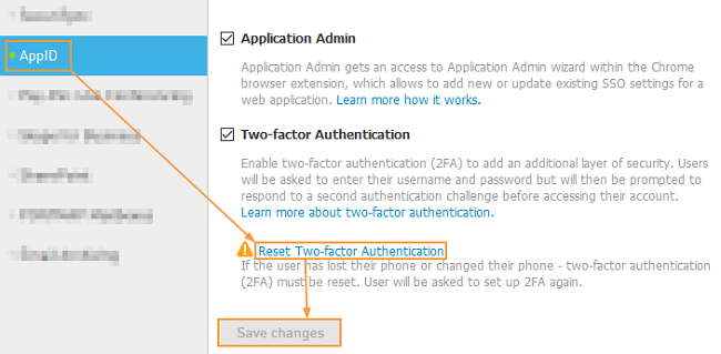 Reset Two Factor Authentication