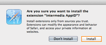 Install Safari Extension