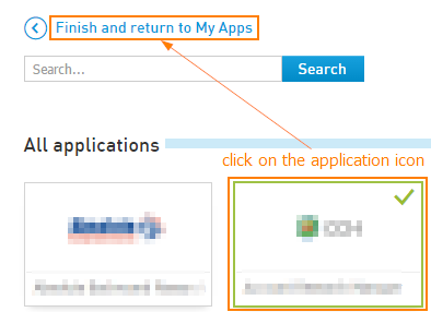 Select and add Applications