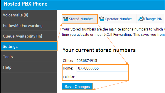 stored numbers