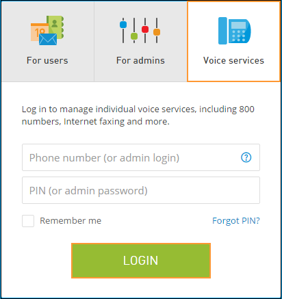 Voice Services tab