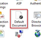 Default document Windows 2008